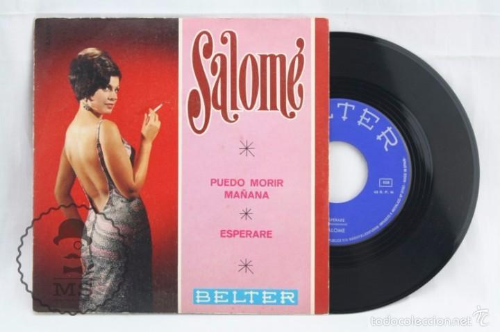 DISCO SINGLE DE VINILO - SALOMÉ. PUEDO MORIR / ESPERARÉ - BELTER, AÑO 1968 (Música - Discos - Singles Vinilo - Solistas Españoles de los 50 y 60)