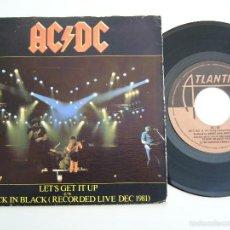 Discos de vinilo: AC/DC. SINGLE. LET´S GET IT UP. EDICIÓN ESPAÑOLA 1981. Lote 176316388