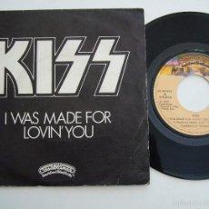 Discos de vinilo: KISS. SINGLE. I WAS MADE FOR LOVIN YOU. EDICIÓN ESPAÑOLA 1979. Lote 58066019