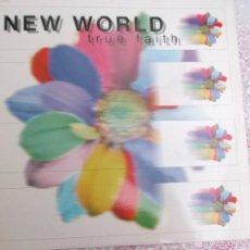 Discos de vinilo: NEW WORLD - TRUE FAITH - VALE MUSIC. Lote 58073909