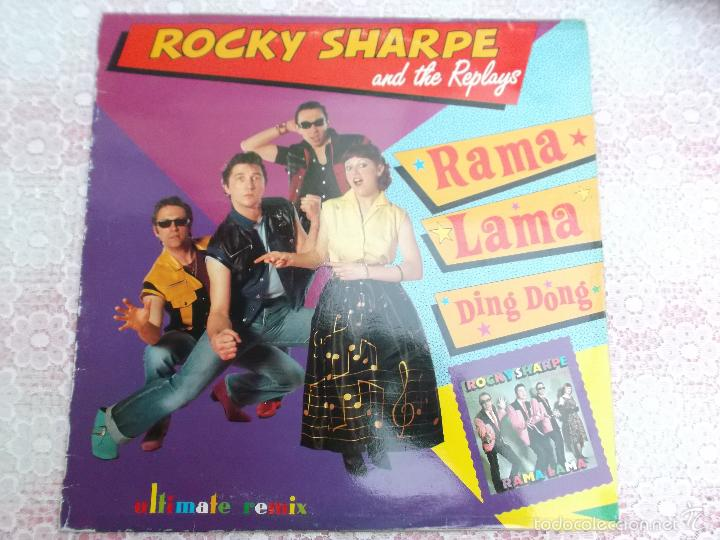 ROCKY SHARPE AND THE REPLAYS - RAMALAMA,IMAGINATION . SHOUT SHOUT KNOCK YOURSELF OUT- MAX MUSIC (Música - Discos de Vinilo - Maxi Singles - Rock & Roll)