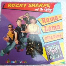 Discos de vinilo: ROCKY SHARPE AND THE REPLAYS - RAMALAMA,IMAGINATION . SHOUT SHOUT KNOCK YOURSELF OUT- MAX MUSIC. Lote 58073981