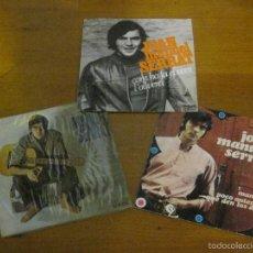 Discos de vinilo: JOAN MANUEL SERRAT - LOTE 3 DISCOS 2 SINGLES Y 1 EP. Lote 58074806