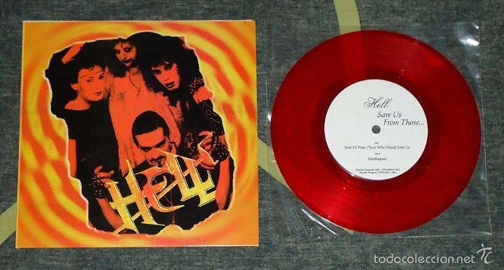 HELL - SAVE US FROM THOSE WHO WOULD SAVE US - 7''(BOOTLEG · #110/250) (Música - Discos de Vinilo - EPs - Heavy - Metal)