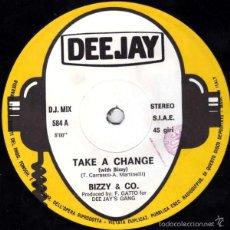 Discos de vinilo: BIZZY & CO. - TAKE A CHANGE - DEEJAY - DJ MIX 584 ITALY. Lote 58085927