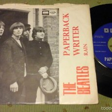 Discos de vinilo: THE BEATLES PAPERBACK WRITER SPAIN 1966 SINGLE. Lote 58087811
