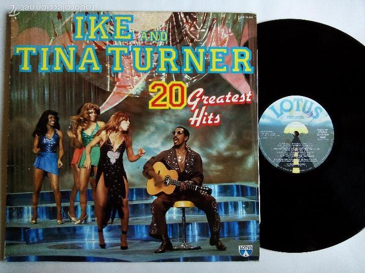 IKE AND TINA TURNER. 20 GREATEST HITS. LP LOTUS LOP 14.080. ITALY 1984. (Música - Discos - LP Vinilo - Funk, Soul y Black Music)