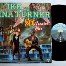 Discos de vinilo: IKE AND TINA TURNER. 20 GREATEST HITS. LP LOTUS LOP 14.080. ITALY 1984. . Lote 58092051