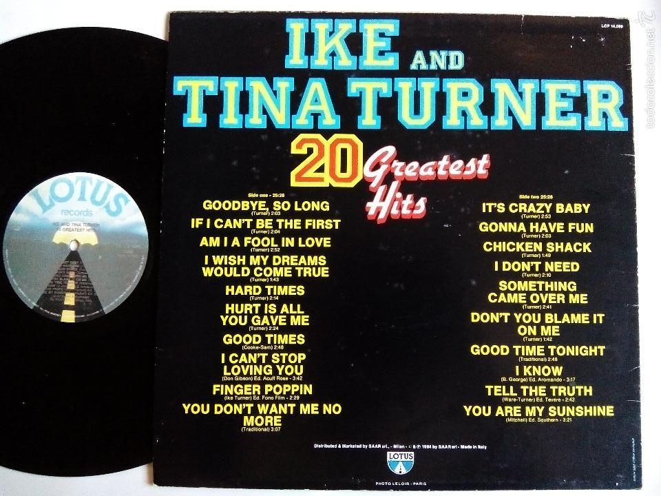 Discos de vinilo: IKE AND TINA TURNER. 20 GREATEST HITS. LP LOTUS LOP 14.080. ITALY 1984. - Foto 2 - 58092051