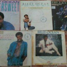 Discos de vinilo: LOTE DE 5 SINGLES DE BILLY OCEAN . Lote 58093702