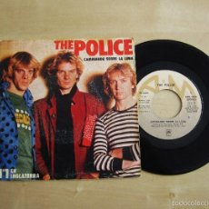 Discos de vinilo: THE POLICE - CAMINANDO SOBRE LA LUNA - SINGLE VINILO ORIGINAL PRIMERA EDICION 1979 AM RECORDS ESPAÑA. Lote 58094280