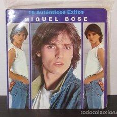 Discos de vinilo: 16 AUTENTICOS EXITOS MIGUEL BOSE CBS LP VINILO J11 VG/VG COLOMBIA RARO ESCASO. Lote 58101444