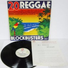 Discos de vinil: 20 REGGAE BLOCK BUSTERS - ZAFIRO 1980 SPAIN - TROJAN - PROMO. Lote 58107491