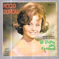 Discos de vinilo: SINGLE. ROCIO DURCAL. BANDA ORIGINAL DE LA PELICULA LA CHICA DEL TREBOL.. Lote 61776782
