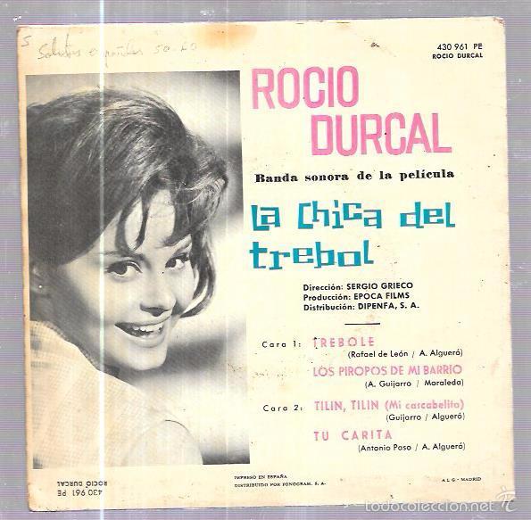 Discos de vinilo: SINGLE. ROCIO DURCAL. BANDA ORIGINAL DE LA PELICULA LA CHICA DEL TREBOL. - Foto 2 - 61776782