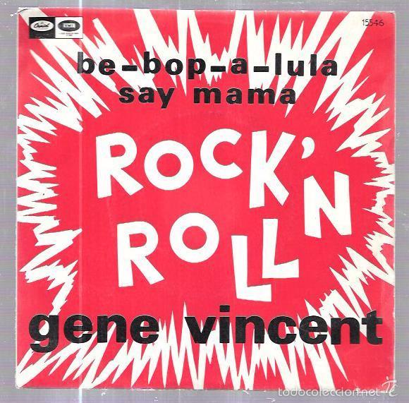 SINGLE. ROCK ´N´ ROLL. BE-BOP-A-LULA. SAY MAMA. GENE VINCENT. (Música - Discos - Singles Vinilo - Pop - Rock Extranjero de los 50 y 60)