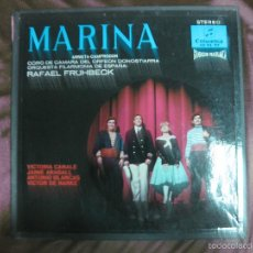 Discos de vinilo: MARINA. ARRIETA-CAMPRODON. VICTORIA CANALE, JAIME ARAGALL... COLUMBIA. 2 LP'S + LIBRETO.. Lote 58110503