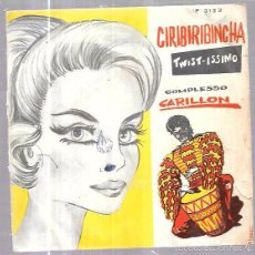 Discos de vinilo: SINGLE. TWIST-ISSIMO. CIRIBIRIBINCHA. COMPLESSO, CARILLON.. Lote 58110577