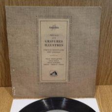 Discos de vinilo: PREFACE AUX GRAVURES ILLUSTRES. VARIOS ARTISTAS. EP / VOIX DE SON MAITRE / ***/***. Lote 58116184