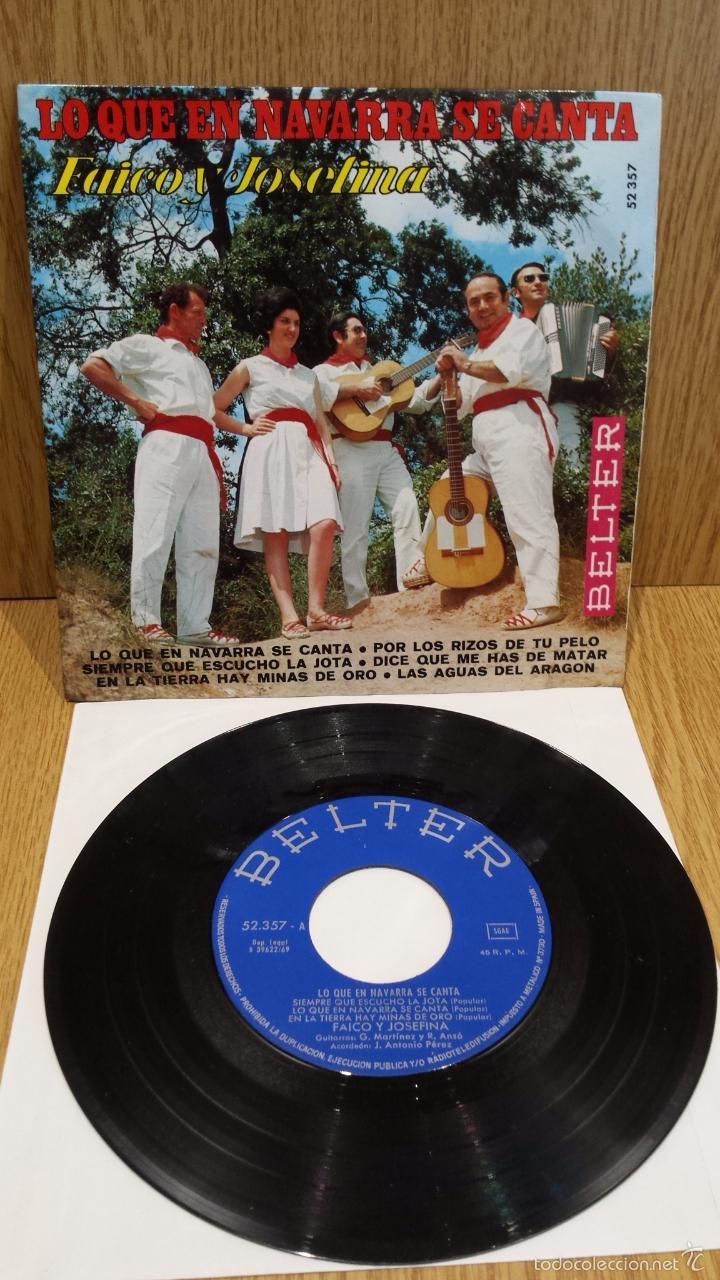 FAICO Y JOSEFINA. LO QUE EN NAVARRA SE CANTA. EP / BELTER - 1969 / ***/*** (Música - Discos de Vinilo - EPs - Country y Folk)