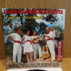 Discos de vinilo: FAICO Y JOSEFINA. LO QUE EN NAVARRA SE CANTA. EP / BELTER - 1969 / ***/***. Lote 58116272