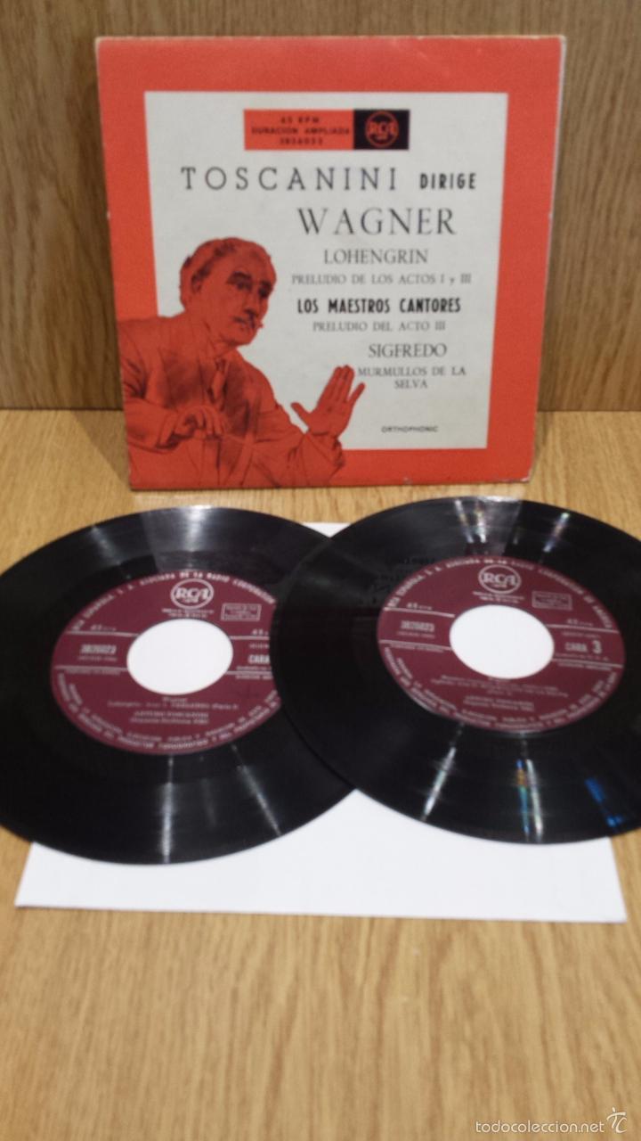 TOSCANINI DIRIGE WAGNER. DOBLE EP-GATEFOLD / RCA-AÑOS 50 / ***/*** RARO Y DIFÍCIL. (Música - Discos de Vinilo - EPs - Clásica, Ópera, Zarzuela y Marchas)
