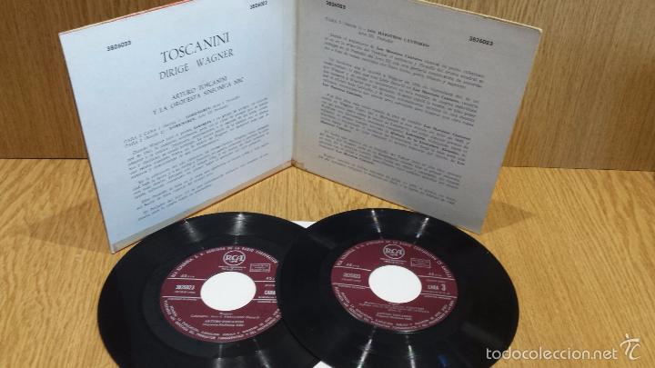 Discos de vinilo: TOSCANINI DIRIGE WAGNER. DOBLE EP-GATEFOLD / RCA-AÑOS 50 / ***/*** RARO Y DIFÍCIL. - Foto 2 - 58116865