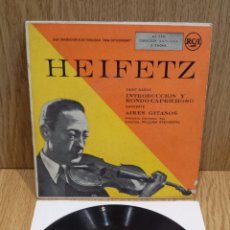 Discos de vinilo: HEIFETZ. SAINT-SAENS / SARASATE. EP / RCA - AÑOS 50 / MBC. ***/*** DIFÍCIL.. Lote 58117301
