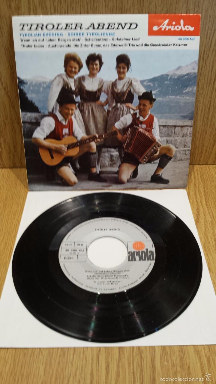 TIROLER ABEND. TYROLIAN EVENING. EP / ARIOLA-AUSTRIA / CALIDAD LUJO. ****/**** (Música - Discos de Vinilo - EPs - Étnicas y Músicas del Mundo)
