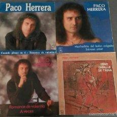 Discos de vinilo: LOTE DE 4 SINGLES DE PACO HERRERA. Lote 58117793