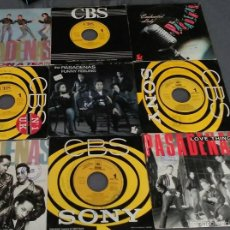 Discos de vinilo: LOTE DE 9 SINGLES DE THE PASADENAS. Lote 58118255