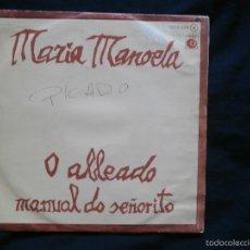 Discos de vinilo: MARIA MANOELA - O ALLEADO / MANUAL DO SEÑORITO - GALEGO - MANUEL MARIA - MIGUEL VARELA - NOVOLA 1977. Lote 58118752