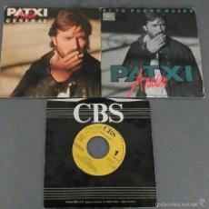 Discos de vinilo: LOTE DE 3 SINGLES DE PATXI ANDION. Lote 58119217