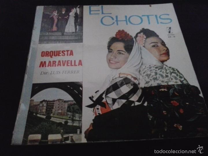 ORQUESTA MARAVELLA EL CHOTIS LP 1965 ZAFIRO (Música - Discos - LP Vinilo - Clásica, Ópera, Zarzuela y Marchas)