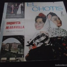 Discos de vinilo: ORQUESTA MARAVELLA EL CHOTIS LP 1965 ZAFIRO. Lote 58119892