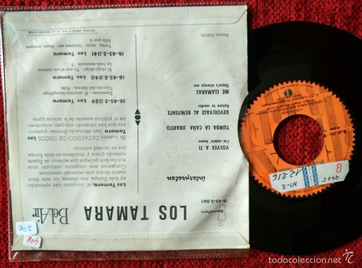 Discos de vinilo: LOS TAMARA EP Volver a ti+ 3 temas 1963 - Foto 2 - 58131566