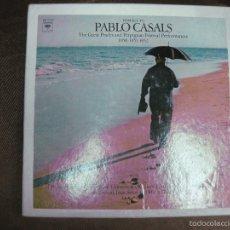 Discos de vinilo: PABLO CASALS. HOMAGE TO THE GREAT PRADES AND PERPIGNAN FESTIVAL PERFOMANCES 1950-51-52. 5 LP'S.. Lote 58142753
