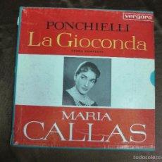Discos de vinilo: PONCHIELLI. LA GIOCONDA. MARIA CALLAS. VERGARA 11.6.017/18/19 K. 3 LP'S + LIBRETO. Lote 58144394