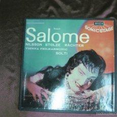 Discos de vinilo: SALOME . NILSSON STOLZE WACHTER. VIENNA PHILARMONIC. SOLTI. DECCA. 2 LP'S + LIBRETO. Lote 58144545