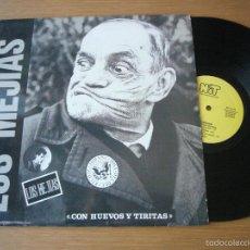 Discos de vinilo: EP 12 PULGADAS LOS MEJIAS CON HUEVOS Y TIRITAS RAMONES CLASH NO PICKY FAST FOOD PUNK. Lote 58146393