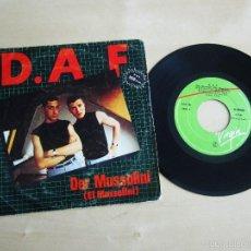 Discos de vinilo: D.A.F - DER MUSSOLINI / EL QUE - SINGLE 45 VINILO ORIGINAL PRIMERA EDICION 1982 VIRGIN. Lote 58147395