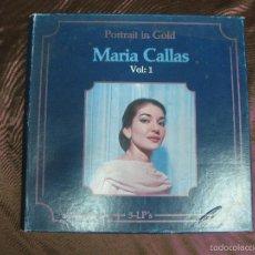 Discos de vinilo: MARIA CALLAS. PORTRAIT IN GOLD VOL. 1. CLASSICAPHON. 5 LP'S.. Lote 58147548