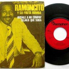 Discos de vinilo: RAMONCITO Y SU FRUTA BOMBA - AVÍSALE A MI COMPAY - SINGLE DISCOPHON 1977 BPY. Lote 58147727