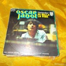 Discos de vinilo: OSCAR JANOT. RECORDAR / ES BELLA LA VIDA. XVII FESTIVAL DE LA CANCION. PHILIPS 1975.IMPECABLE. Lote 58159783