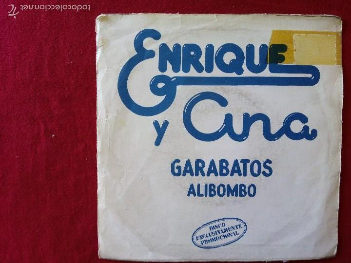 Discos de vinilo: ENRIQUE Y ANA, GARABATOS + ALIBOMBO (HISPAVOX) SINGLE PROMOCIONAL - RAFAEL TRABUCCHELLI - Foto 2 - 58159882
