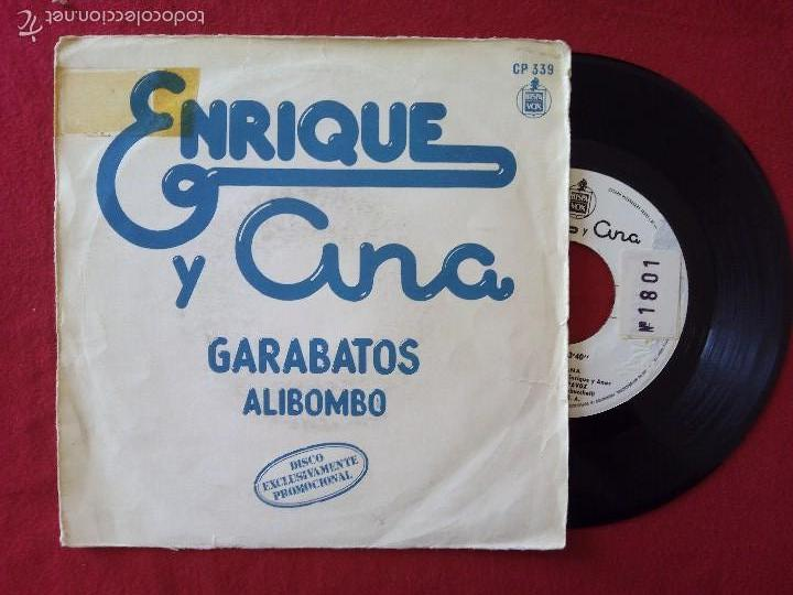 ENRIQUE Y ANA, GARABATOS + ALIBOMBO (HISPAVOX) SINGLE PROMOCIONAL - RAFAEL TRABUCCHELLI (Música - Discos - Singles Vinilo - Música Infantil)
