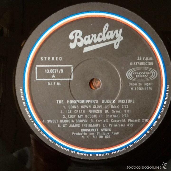 Discos de vinilo: ROOSEVELT SYKES : THE HONEYDRIPPERS DUKE'S MIXTURE [ESP 1975] LP - Foto 3 - 55862727