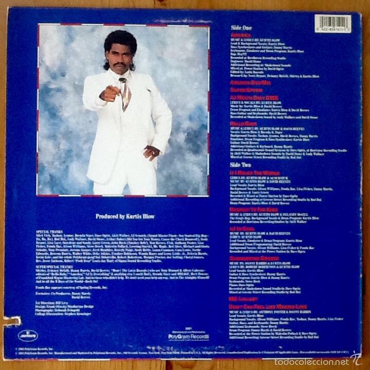 Discos de vinilo: KURTIS BLOW : AMERICA [USA 1985] LP/1st EDITION - Foto 2 - 140124565