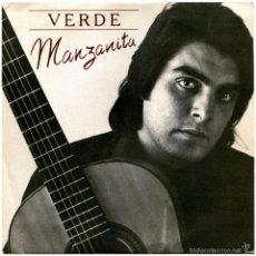 Discos de vinilo: MANZANITA (PEPE ÉBANO) - VERDE (FEDERICO GARCÍA LORCA) - SG SPAIN 1978 - CBS 6691. Lote 277544463