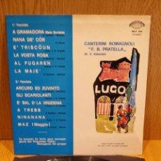 Discos de vinilo: CANTERINI ROMAGNOLI DIRETTI DA BRUTO CARIOLI. LP / EDIG / MBC. ***/***. Lote 58178703